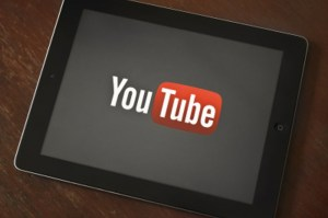ipad with youtube app on it