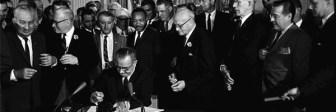 President Johnson signing Civiil Rights Act