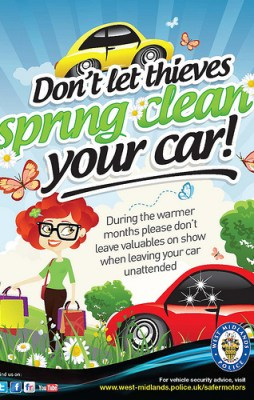 Don't let thieves spring clean your car!