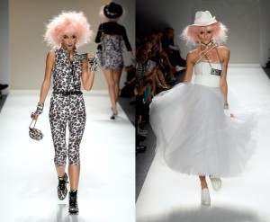 fashion week, pink wig, fashion, model, runway model
