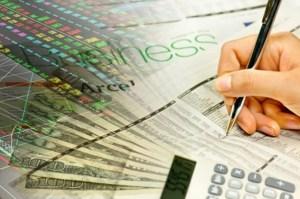 finances, calculator, woman writing