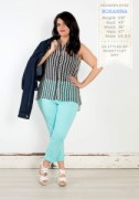 plus size clothing, mod cloth, blue pants, outfit