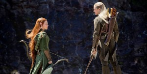 tauriel and legolas in the forest