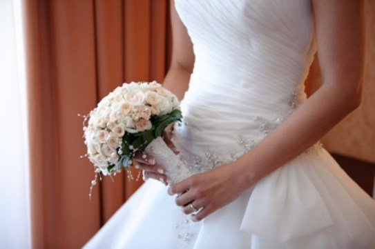 Bride and Flower Bouquet