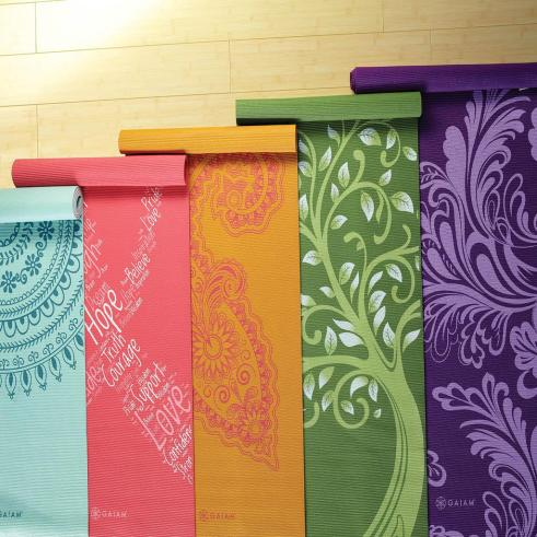 Gaiam Print Yoga Mats