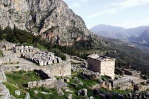 Ancient Ruins in Delphi
