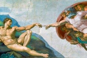 religious art Michelangelo's Creation of Adam