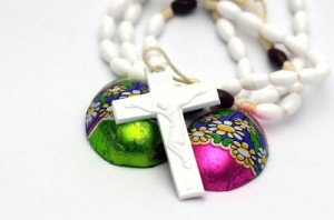 Cross with Easter Eggs