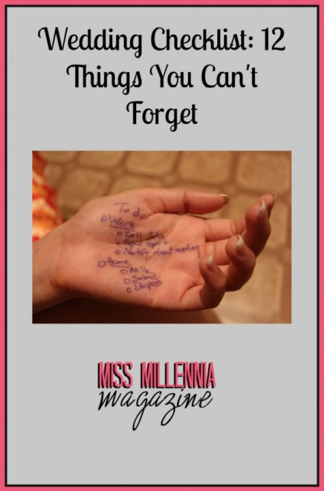 Wedding Checklist 12 Things You Can't Forget