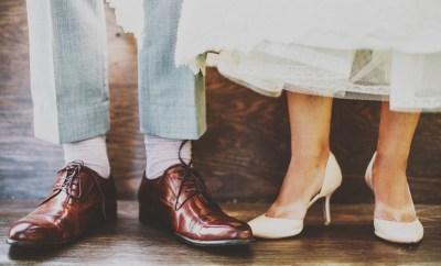 bride, groom, shoes