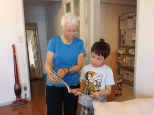 grandma with grandson