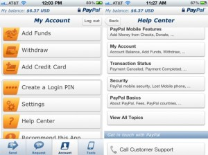 paypal mobile app