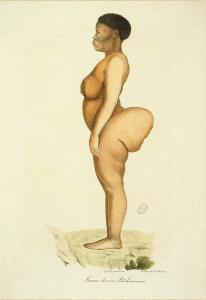 illustration fo baartman likened to kim kardashian