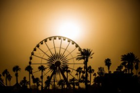 Coachella ferris wheel sunset Indio, California