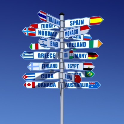 travel signs to countries