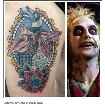 beetlejuice tattoo