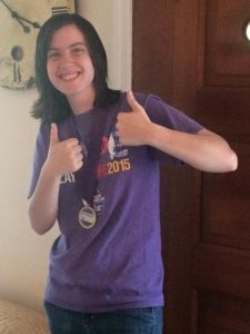 emily shy recently celebrated two years in remission