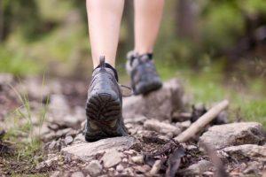 hiking in sneakers