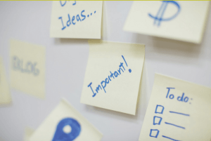 important sticky notes to help with turning an internship into a full-time job