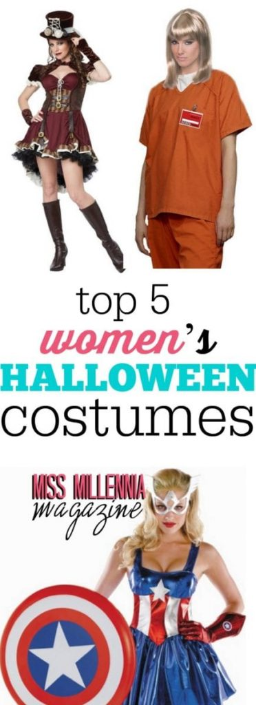 Unsure of what you want to dress up as for Halloween this season? Consult this guide for the top five women's costumes this year!