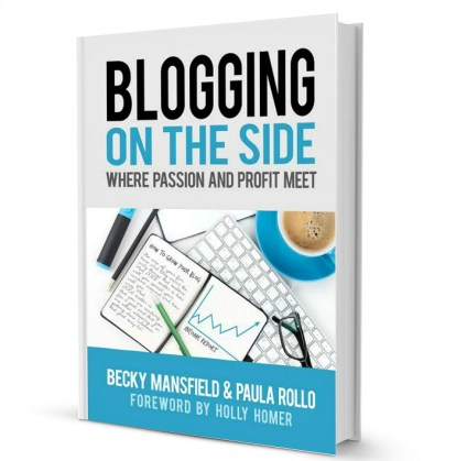 Blogging on the side book cover