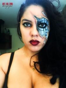 halloween cyborg makeup