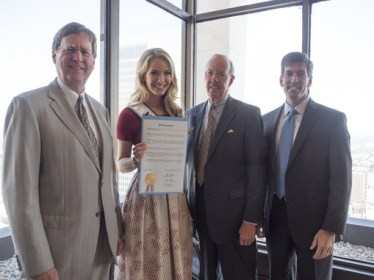 Miss USA 2015, Olivia Jordan is recognized by the City of Tulsa and September 24 is declared Olivia Jordan Day