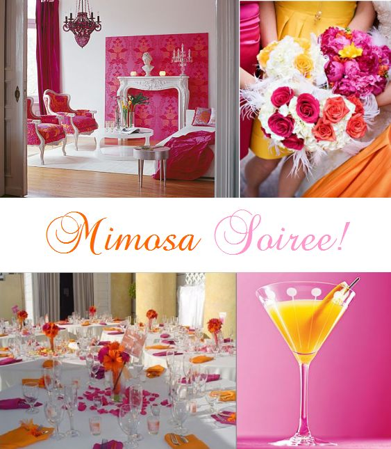 mimosa soiree wedding shower theme