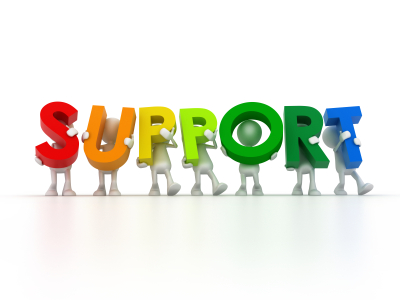support rainbow letters