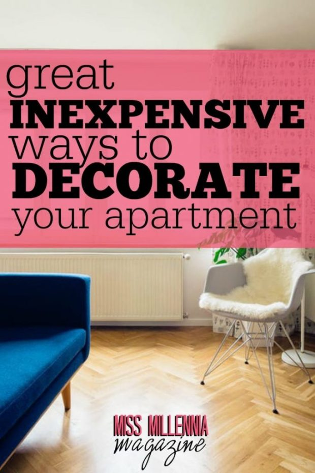 When you decorate your apartment on the cheap just remember to be creative and at the end of the day make it a space that you feel proud to call your home!