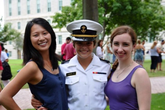 friend's success at the naval academy
