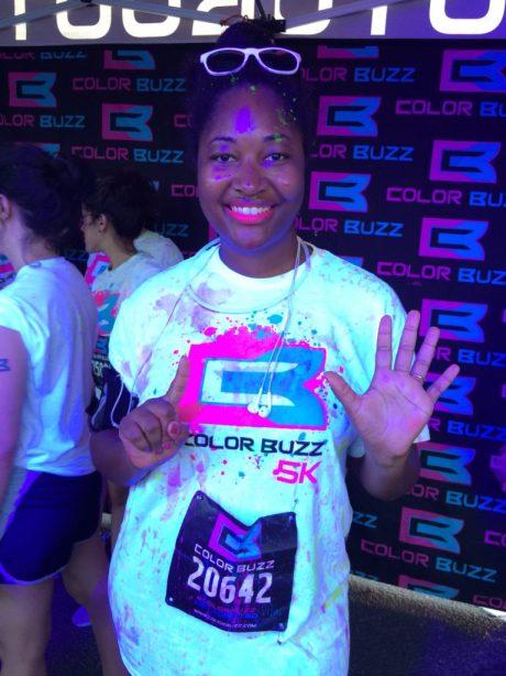 Jasmine running 6th 5k of 2015