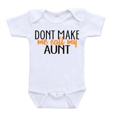 baby gift ideas: cool aunt onesie