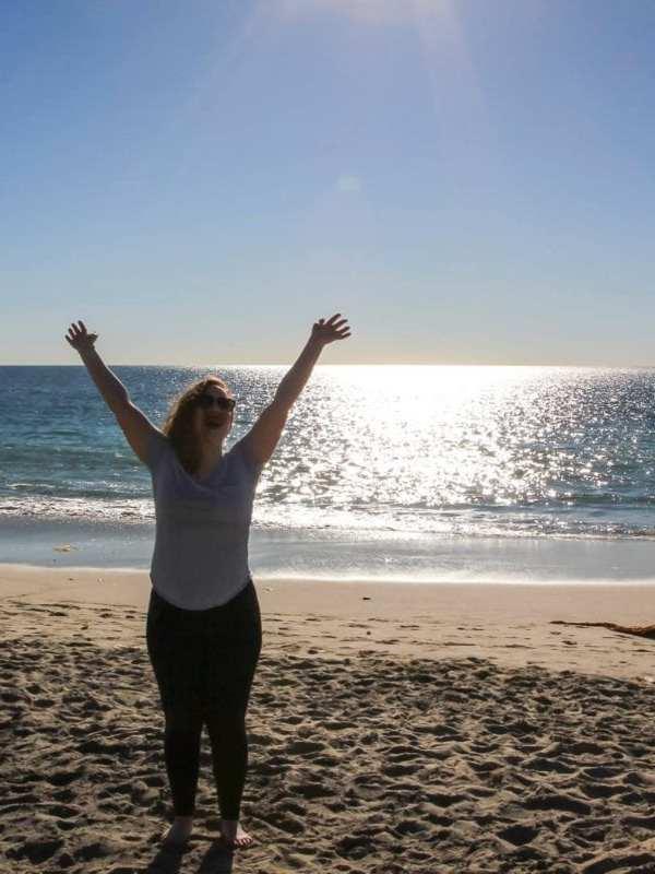girl on beach with body confidence miss millennia magazine