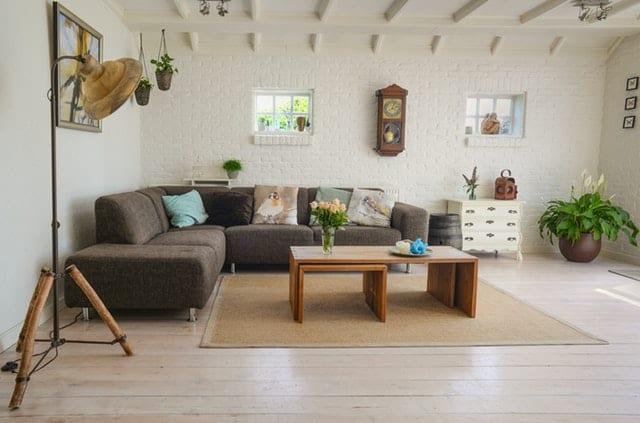 Apartment interior with furniture
