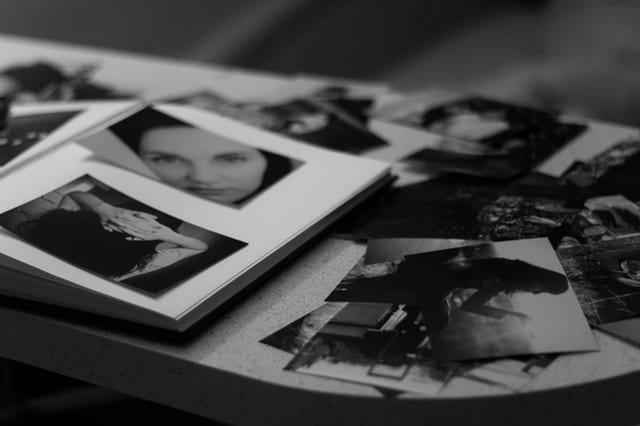 black and white photos and album