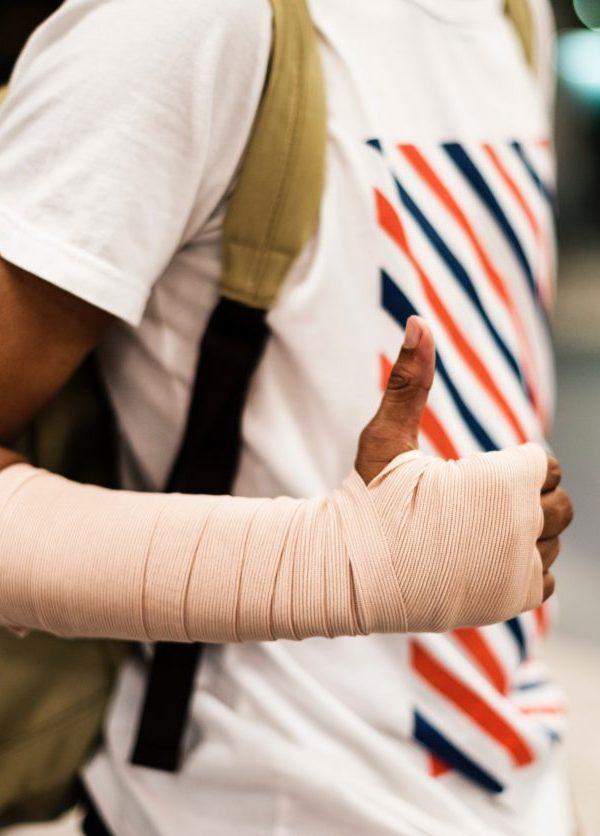 injured traveler during vacations