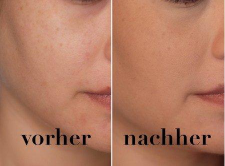 Double Wear Stay-in-place MakeUp - Vorher Nachher Vergleich