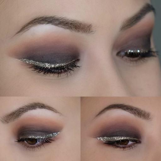 Heavy Metal Glitter Eyeliner Look 3