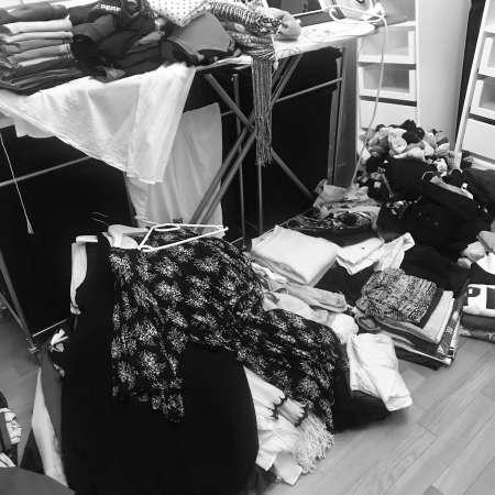 KonMari Kleiderhaufen
