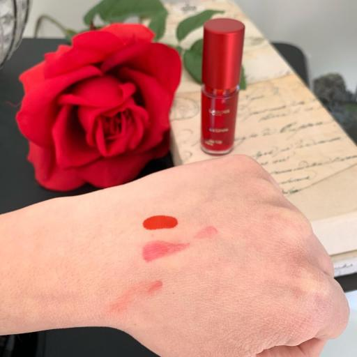 Clarins Red Water Swatches