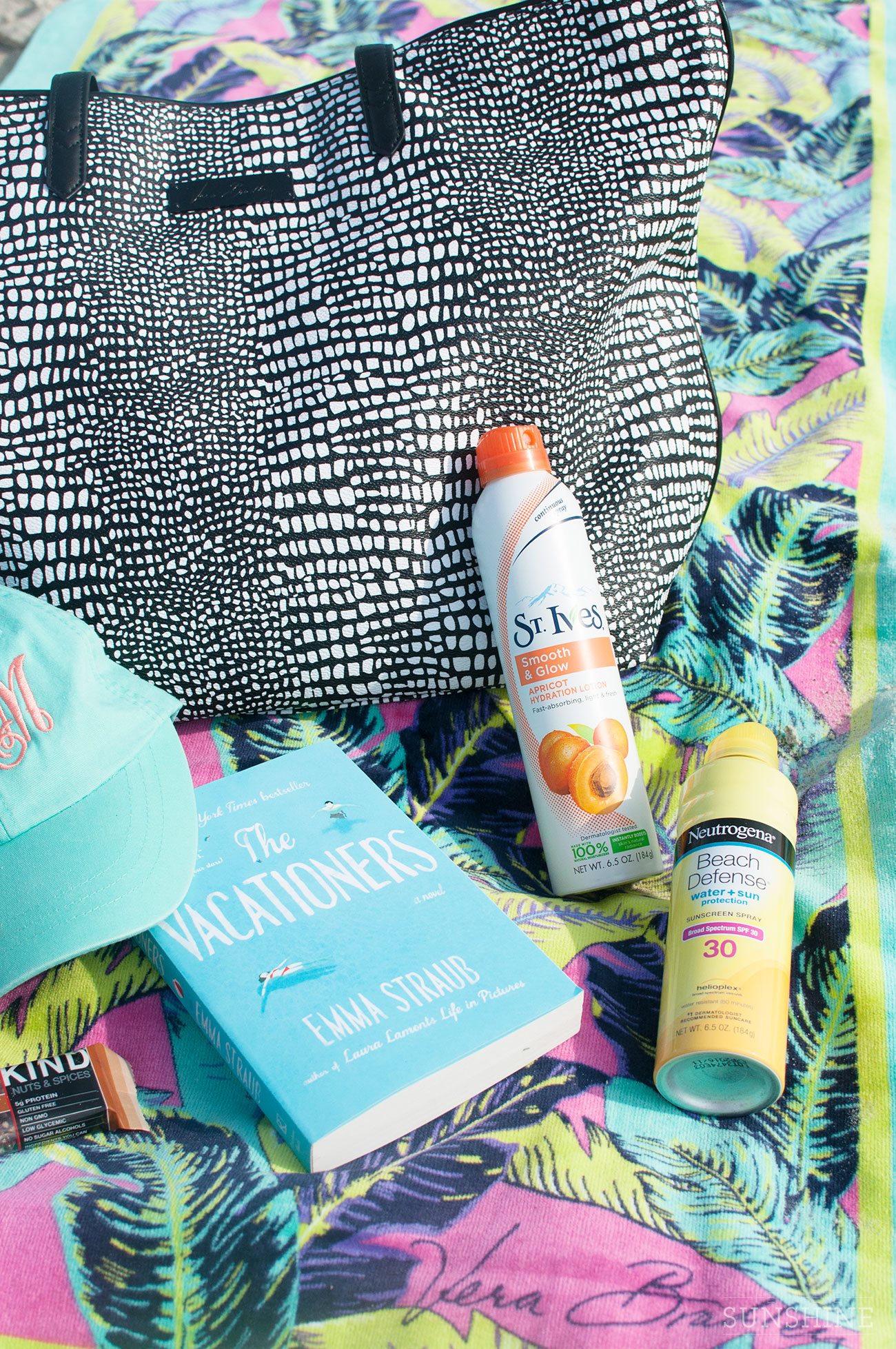 Don't forget to toss in a good book and some SPF.
