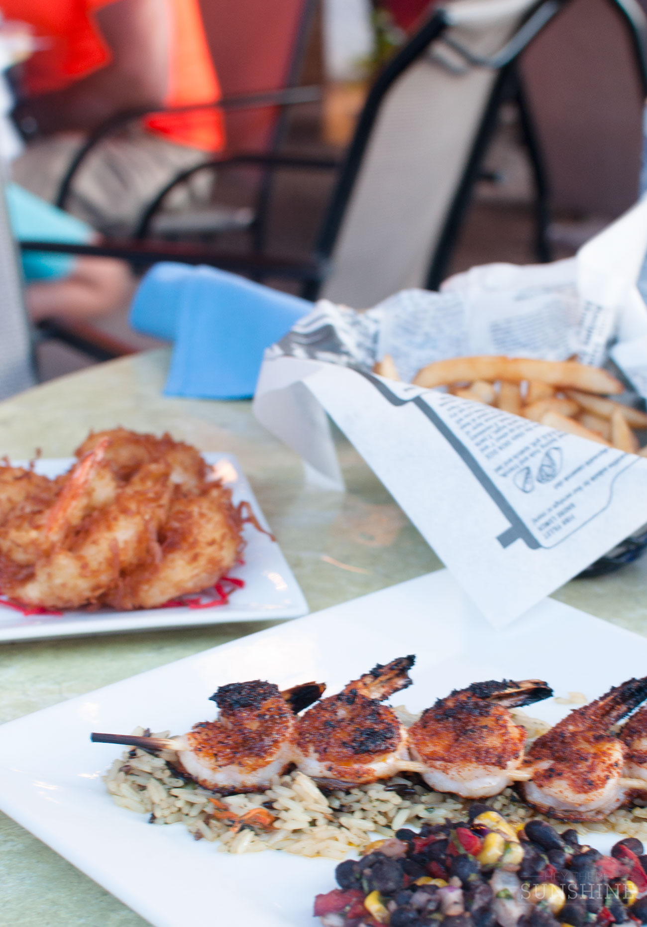Two kinds of shrimp and fries from Scott's Fish Market in Hilton Head, SC.