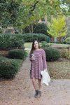 Collegiate Tervis Tumbler, Old Navy Swing Dress, and LOFT Sweater Vest