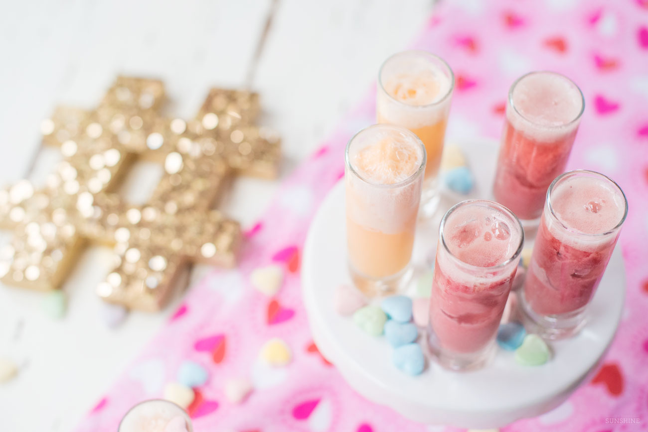 Galentine's Day Mimosa Shooters