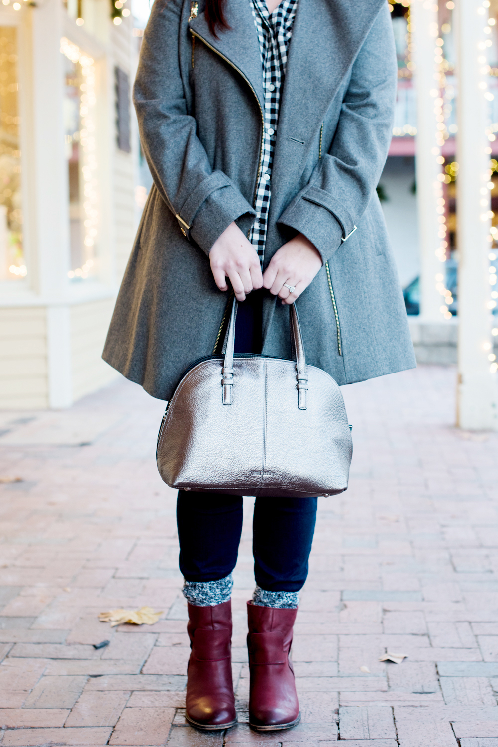 Cold Weather Style | Michael Kors Coat, OTBT Red Boots, Vera bradley Bag via @missmollymoon
