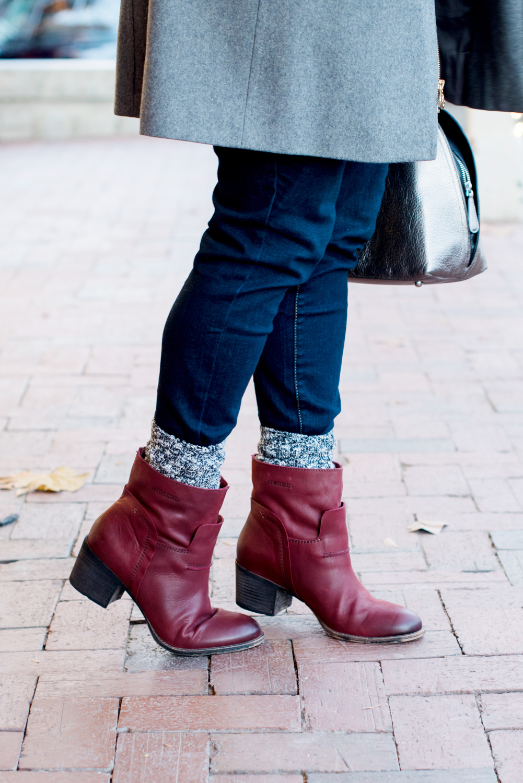Cold Weather Style | Michael Kors Coat, OTBT Red Boots, Vera bradley Bag via @missmollymoon