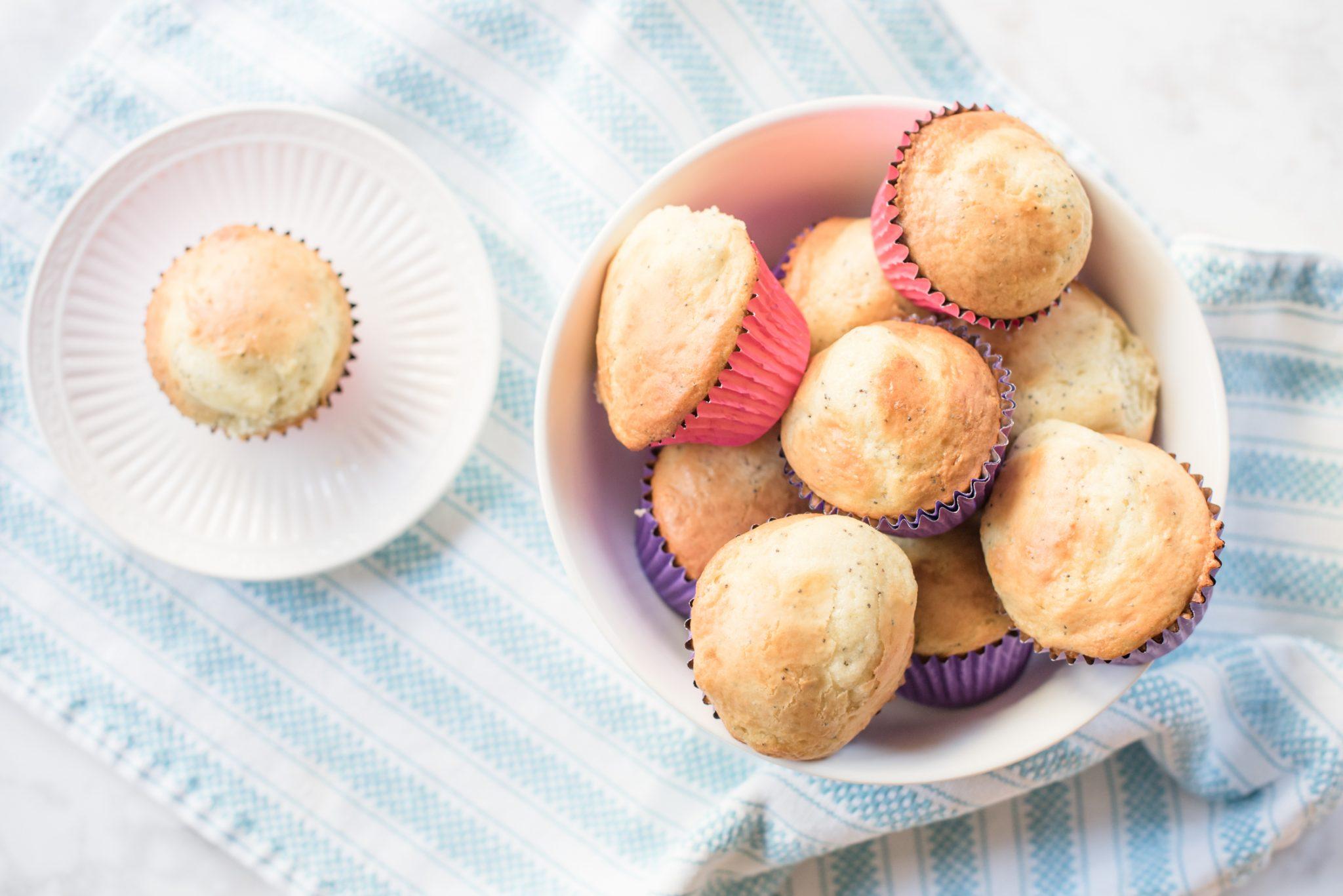 Almond Poppyseed Muffins via @missmollymoon