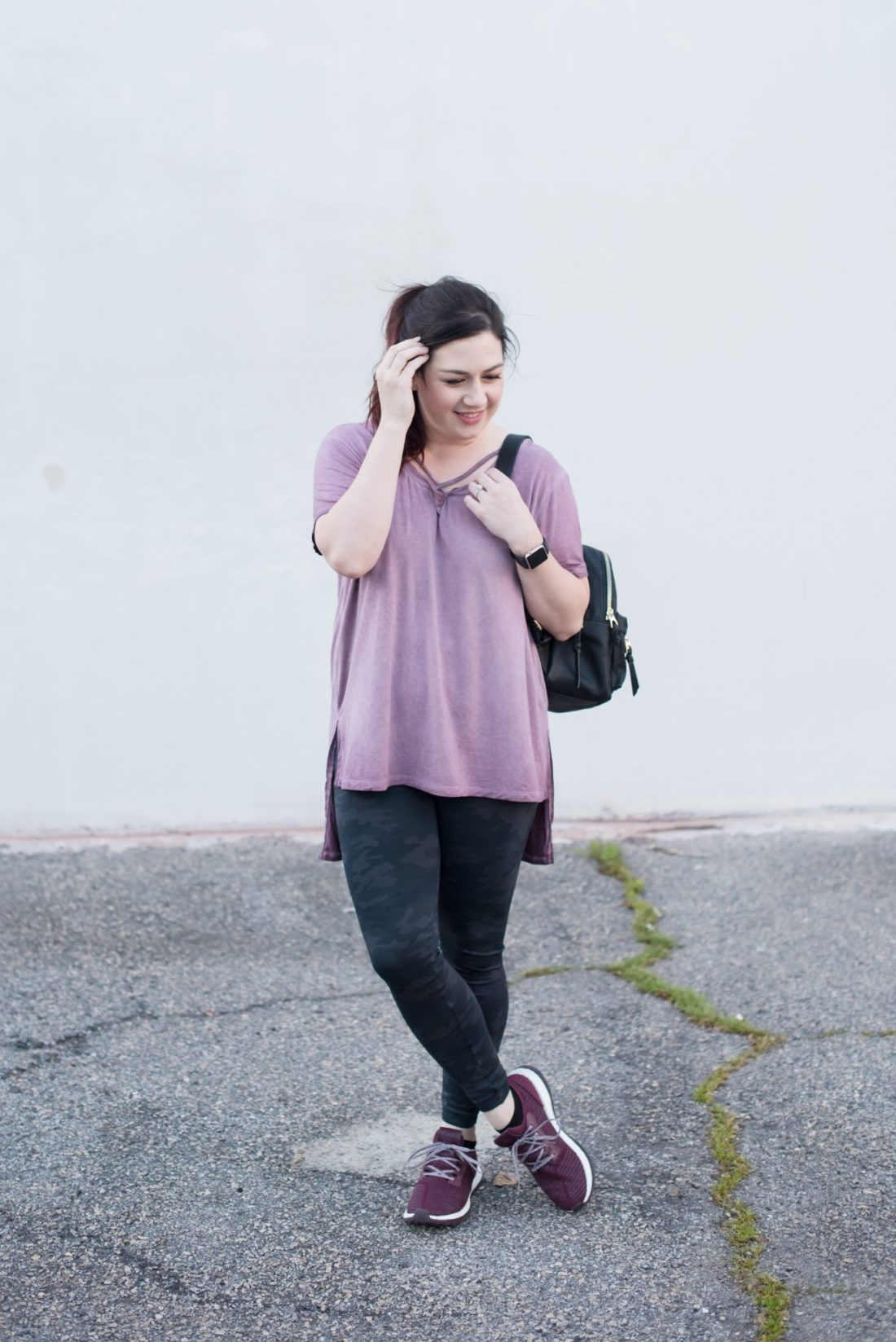 Everyday Athleisure, Spanx Leggings, Criss Cross Tee