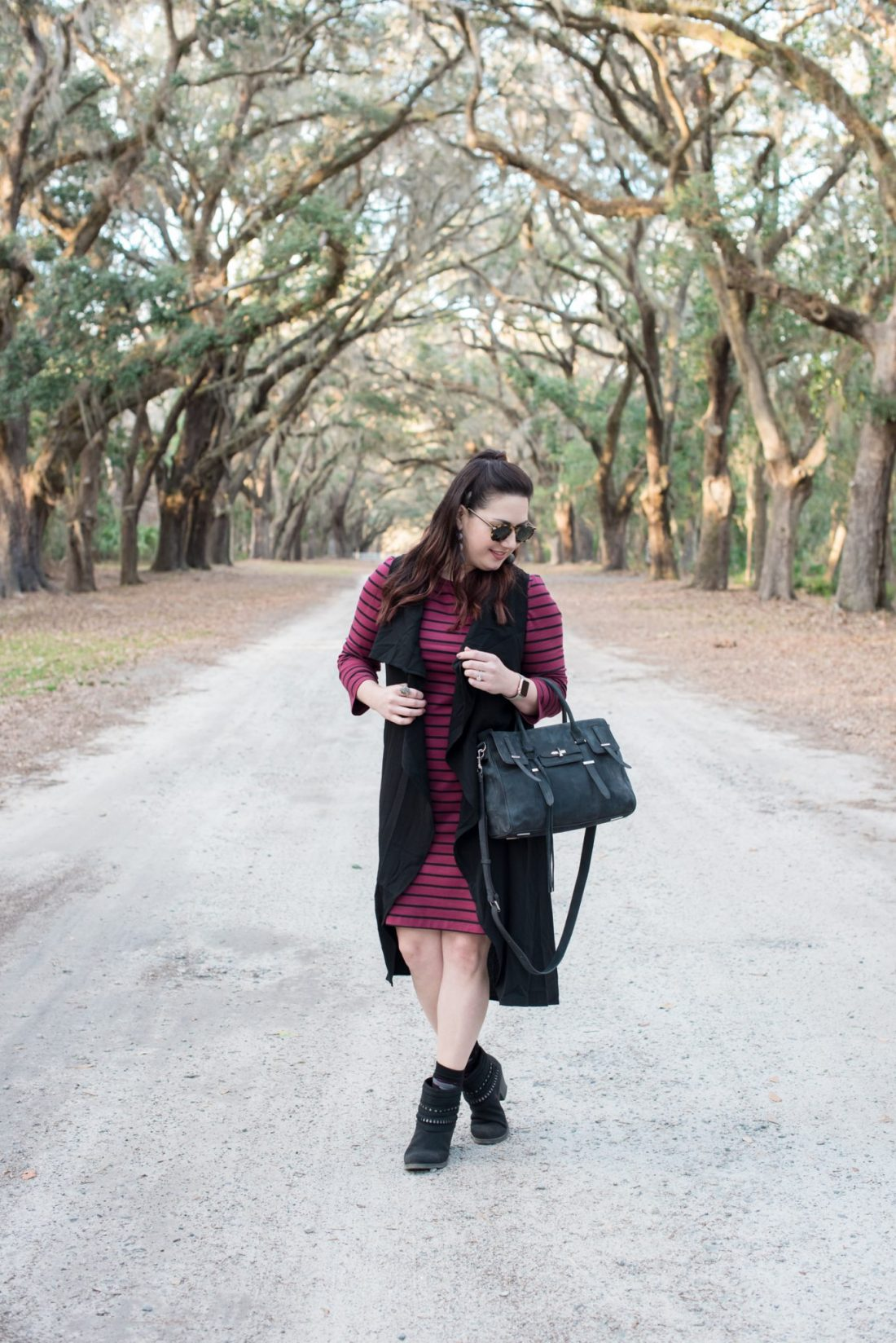 Striped Shift Dress via @missmollymoon